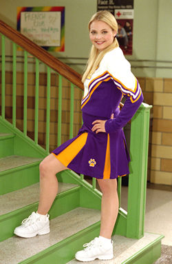 I look really cute in this cheerleader dress